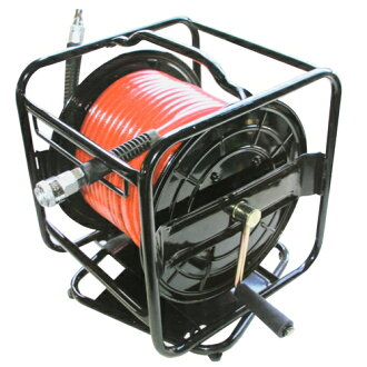 Air urethane hose reel EAR-030 with E-Value turn-type air drum 30m air drum one-touch coupler