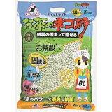 イデシギョー キャットセイド お茶のネコ砂 紙製の固まって流せる8L お茶の猫砂