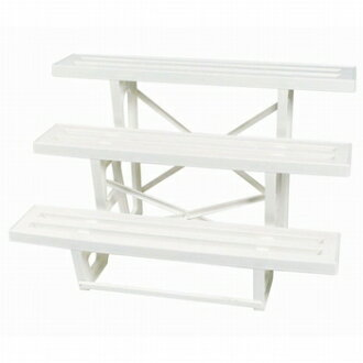 NS flower stand 3-stage white 900E W 900 × D560×H545mm
