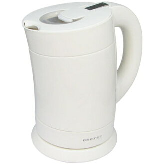 DRI tech electric kettle bamboo PO-111 white