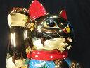 国産 ■ 金運 招き猫 ■金 8寸■右手 高さ 約 24センチ