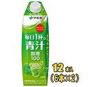 ショッピング青汁 伊藤園 毎日1杯の青汁 まろやか豆乳ミックス 1L紙パック×12本入(6本×2)
