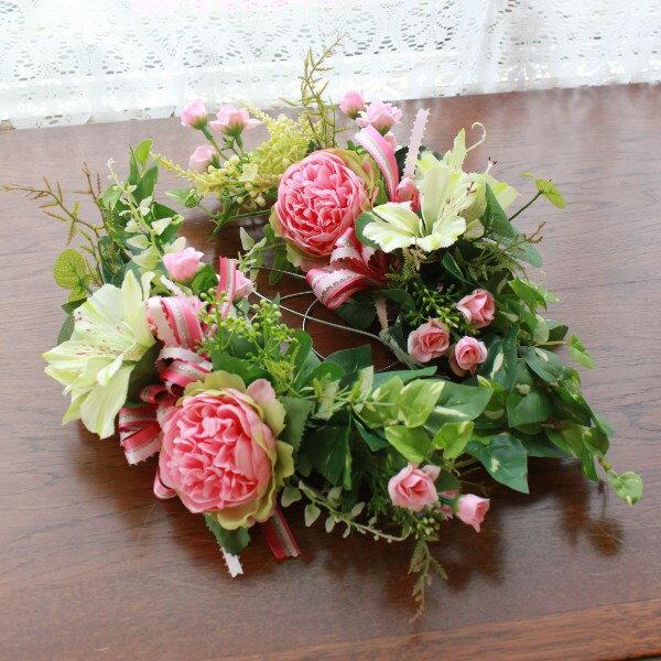 造花 ラナンキュラスとアルストロメリアの スワッ...の商品画像