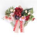 しめ縄 胡蝶蘭やピオニーの和洋折衷なお正月玄関飾りリース しめ飾り 玄関飾り 造花 シルクフラワー CT触媒