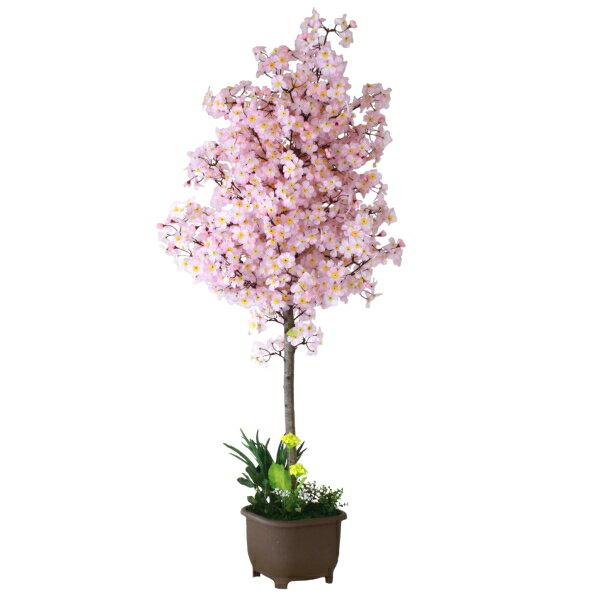 造花 ピンク色の桜の鉢植 特大160 造花 観葉植物 インテリア CT触媒 待ち焦がれる春をプレゼント
