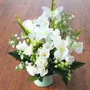 造花 仏花 ボールマムとアルストロメリアのプチアレンジ CT触媒 シルクフラワー 造花 お供え花 お彼岸 お盆 お仏壇 仏花