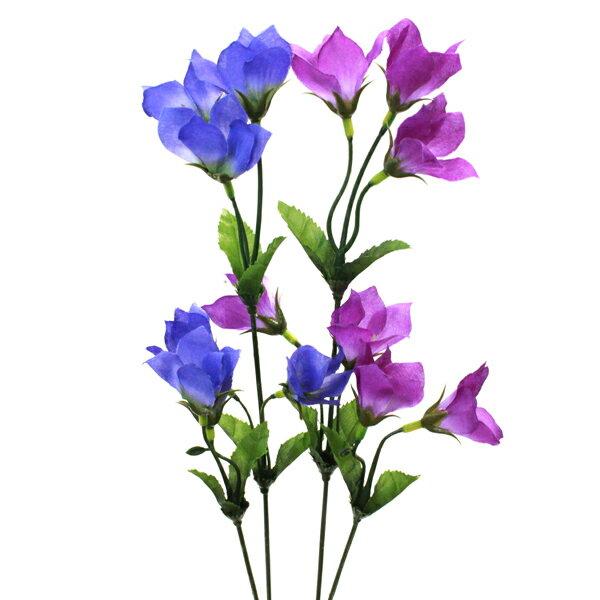 キキョウのスプレー24本入 造花 シルクフラワーの商品画像