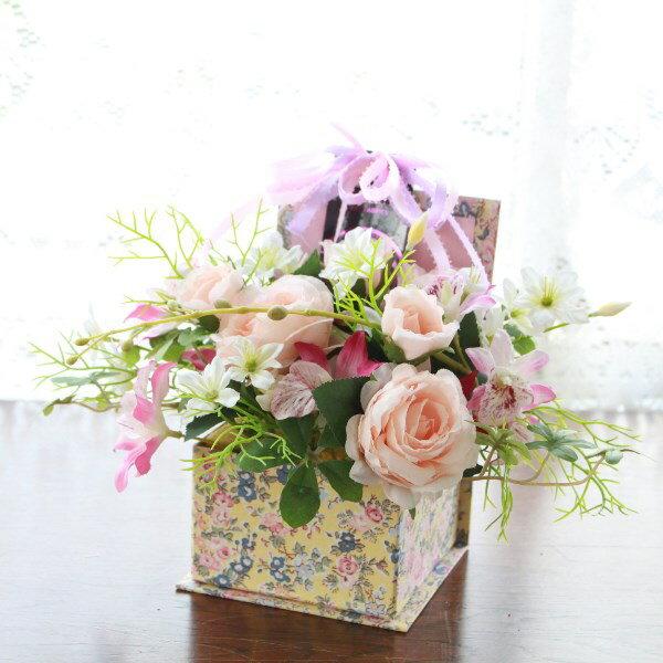 造花 カールローズとダンシングオーキッドのリバテ...の商品画像