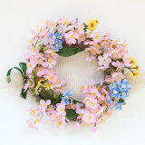【期間限定30%OFF】【CT触媒】ボリュームのある桜のリース【シルクフラワー】r【楽ギフ包装】【造花】【RCP】