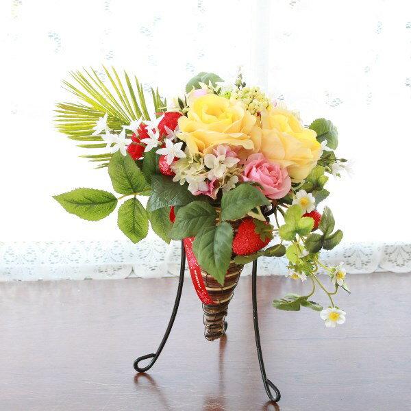 【CT触媒】ダリアやリリーの華やかなアレンジ【キャンセル・返品不可】r【シルクフラワー 造花】 【送料無料】母の日に、お誕生日に
