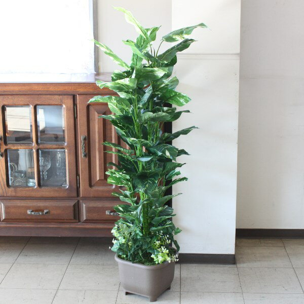 【CT触媒】ポトスツリー130〔BW470〕【観葉植物】r【楽ギフ_包装】【造花】【西濃便】 【送料無料】お店やオフィスのディスプレイに