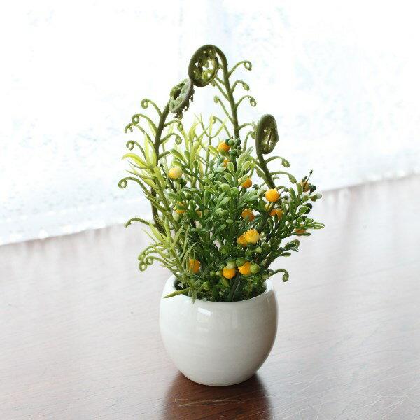造花 プチグリーンアレンジ[ボストンファン]観葉植物 造花 シルクフラワー CT触媒