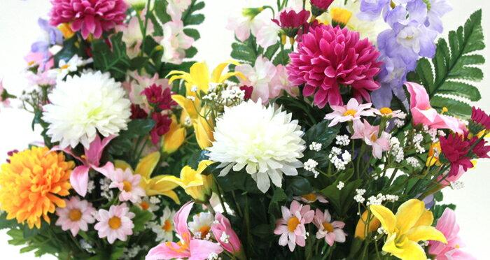 造花 仏花 ボールマムと小菊の花束一対 CT触...の紹介画像3