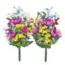 造花 仏花 デルフィニウムと菊の花束一対 CT触媒 シルクフラワー お彼岸 お盆 お仏壇 お墓 花 お供え