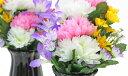 【CT触媒】可愛らしいエゾ菊とミニリリーのプチ花束一対【シルクフラワー】【楽ギフ_包装】【造花】【お彼岸 お盆】【お仏壇】【仏花】【RCP】