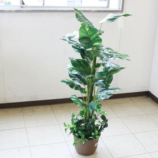 【CT触媒】ミディアムサイズグリーン[ポトス]110【西濃便】【楽ギフ_包装】【造花】 インテリアグリーン・現代の進化した人工観葉植物