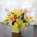 造花 チューリップとスイートピーの春のアレンジ シルクフラワー CT触媒