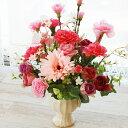 造花 ピンクが好きなお母さんへ ローズとカーネーションのアレンジ 母の日 ギフト カーネーション C...