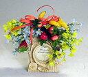 造花 イチゴと小花の額付アレンジr シルクフラワー CT触媒