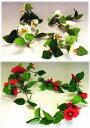 造花 トロピカルな雰囲気が漂ってくるハイビスカスのガーランド CT触媒