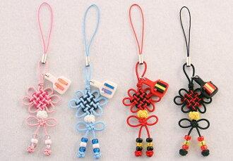 Asian knot hanamusubi strap (with Petite naruko)
