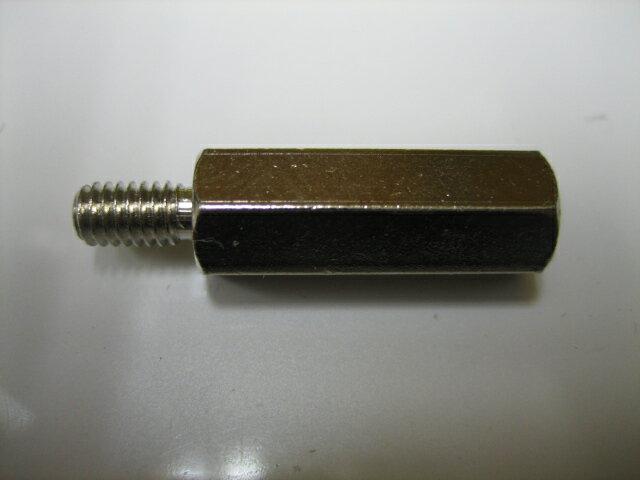 六角ポスト 黄銅スペーサー 4x20