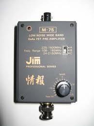 jim M-75 広帯域受信アンプ