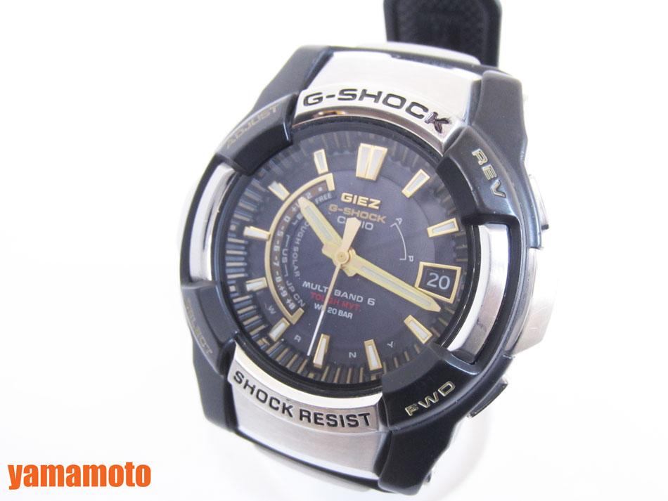 【送料無料】  CASIO カシオ G-SHOCK Gショック GIEZ タフソーラー腕時計 メンズウォッチ GS-1200-9AJF 美品 【】