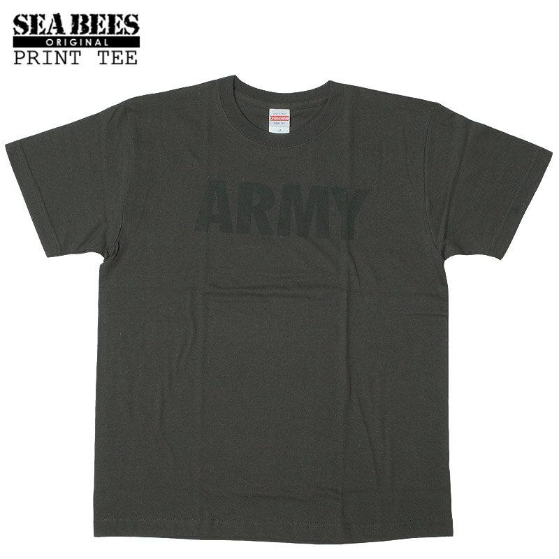 1点ならメール便可 オリジナルプリント 半袖Tシャツ 『ARMY』 【スミ×ブラック】