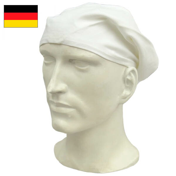 メール便OKドイツ軍 コックスカーフ 【ホワイト】デッドストック