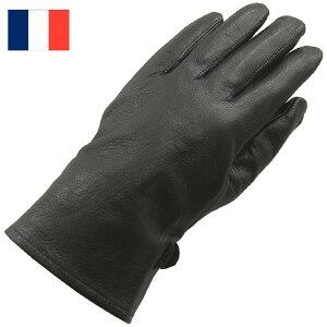 フランス ワークレザーグローブ ブラック ストック