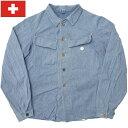 セール中 スイス軍 デニムジャケット ブルー オールドスタイル USED
