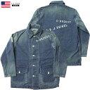 YMCLKYオリジナル WW2 米軍タイプ デニムワークジャケット ウォッシュ加工 ステンシル ロゴ入り 新品
