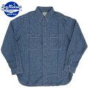 BUZZ RICKSON'S #BR25995 ブルー シャンブレー ワークシャツ 【125ブルー】【送料無料・沖縄・離島除く】