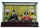 玩具, 興趣, 遊戲 - 【雛人形】瓦や裕庵 監修 小三五親王:濃緑・小桜 アクリルケース入り
