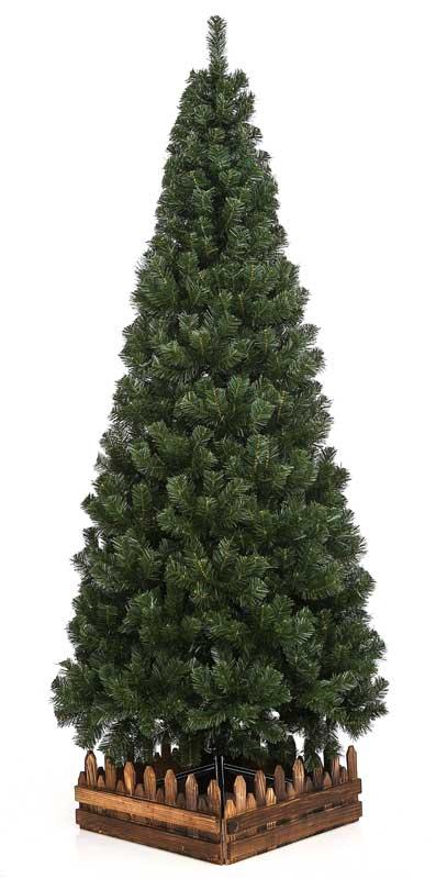 180cmスリム濃緑 品質保証高級クリスマスツリー木枠付【クリスマスツリー スリム】