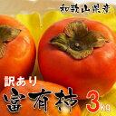 和歌山県産 訳あり 富有柿 3kg (サイズ不揃い ご自宅用) 【送料無料】種あり甘柿