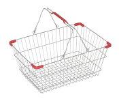 マーケットバスケット L ワイヤーフレーム買い物カゴ 人気商品 店舗備品在庫切れの場合は、納期をお知らせ致します。