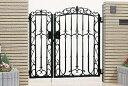 門扉 門柱タイプ ファンセル8型 親子開き タッチ錠 鋳物 0412+0812 三協立山