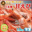 【送料無料】日本海の「甘エビ」1kgホッコクアカエビ、その赤い姿から南蛮エビとも呼ばれる贈り物に甘エビは人気!、海産物が好きな人への贈り...