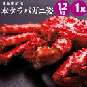 北海道直送 本タラバガニ姿 1.2kg×1尾 紅鮭2切1パッ...