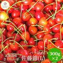 甘熟さくらんぼ「佐藤錦L300g×2個」自宅用 バラ詰め 北...