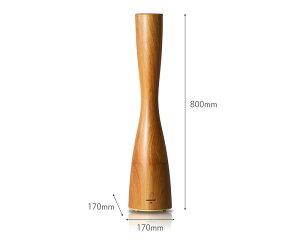 PRISMATEアロマ超音波式加湿器「Sablierwood(サブリエウッド)」<ブラウンブラックプレーン>除菌抗菌消臭抗菌カチオンAg+きれいなミストアロマ対応大容量アロマディフューザースリムスタイリッシュ木目超音波式おしゃれ