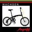 WACHSEN(ヴァクセン) 「Angriff(アングリフ) BA-100」 アルミ 折りたたみ 20インチ 6段変速ブラックxイエロー/ブラックxレッド 自転車通勤 自転車通学 折りたたみ自転車