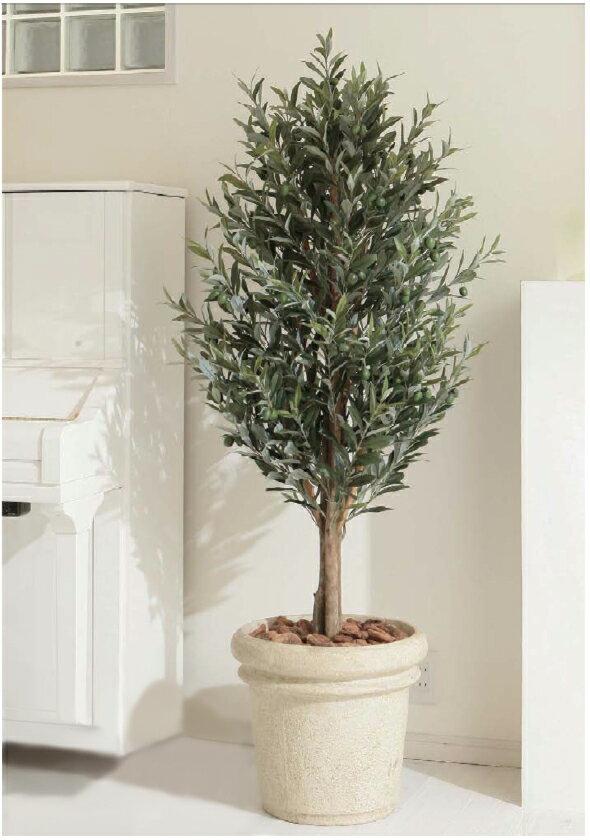 タカショー グリーンデコ鉢付 観葉植物「オリーブツリー」1.6m 【送料無料!】