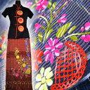 【送料無料】チェンマイコットン 絣織り 花 刺繍  巻きスカート No21?29