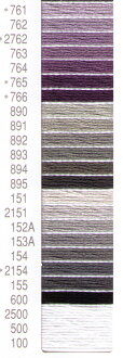 ★ 20% off ★ Cosmo embroidery threads 10 (No. 761-100) purple, gray, black and white series fs2gm