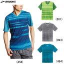 ブルックス BROOKS FLY-BY フライバイ ショートスリーブ Vネック ランニングシャツ メンズ/男性 陸上・ランニング用品 半袖Tシャツ