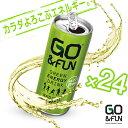 【250ml×24缶セット+2本】Go&FUN ゴー・アンド・ファン グルテンフリー GREEN ENARGY DRINK エナジードリンク 微炭酸