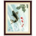 日本画 唐沢碧山 夫婦滝昇鯉(めおとたきしょうり) F6 端午の節句画 [g4-bd030-F6] インテリア